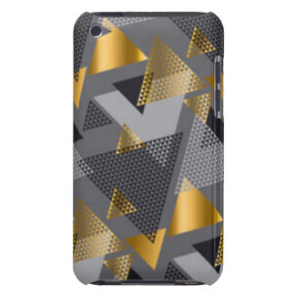 Gold Black Silver Abstract Pattern Design Barely There iPod Case