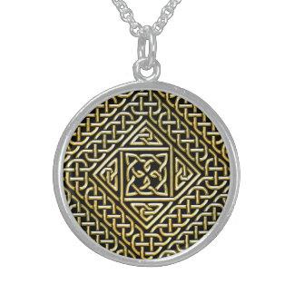 Gold Black Square Shapes Celtic Knotwork Pattern Custom Jewelry