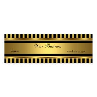 Gold Black Stripe Skinny Pack Of Skinny Business Cards