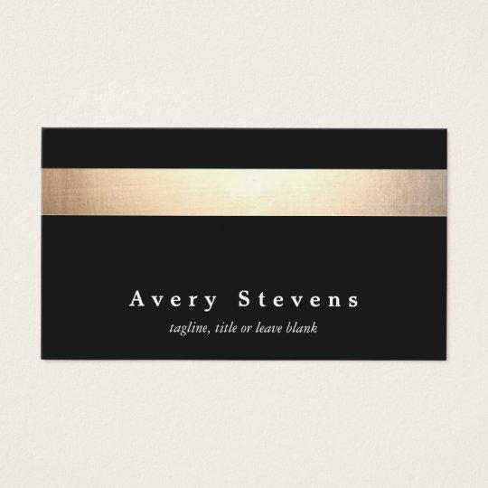 Gold Black Striped Modern Stylish Beauty Salon Business