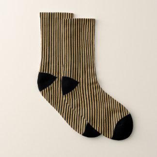 Gold & Black Stripes Socks