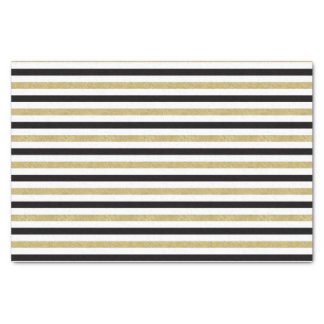 Gold Black Stripes Tissue Paper