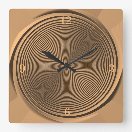 Gold/Black Swirl Design >Wall Clock