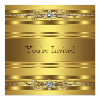 Gold Black Tie Party Corprate Business Event Card