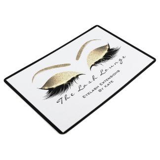 Gold Black White Makeup Glitter Lashes Beauty Stud Floor Mat