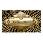 Gold Black Zebra Business Card