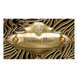 Gold Black Zebra Business Card Pack Of Standard Business Cards