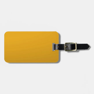 Gold Blank TEMPLATE Add text image fill color Luggage Tag