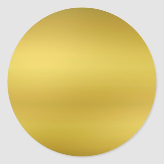 Gold Blank Template Faux Foil Classic Round Sticker
