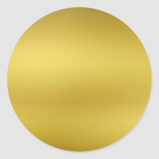 Gold Blank Template Faux Foil Round Sticker
