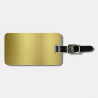 Gold Blank Template Luggage Tag