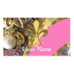 Gold bling fleur de lys pack of standard business cards