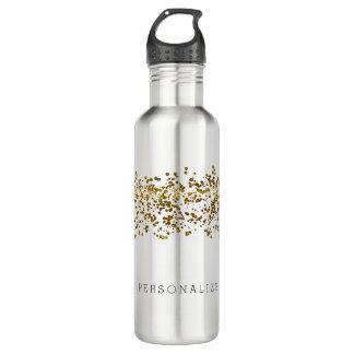 Gold Bling Glitter Confetti 710 Ml Water Bottle