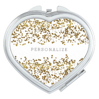 Gold Bling Glitter Confetti Vanity Mirror