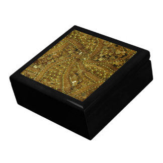 Gold bling glitter & pearls gift box