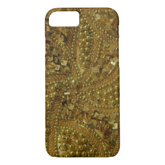 Gold bling glitter & pearls iPhone 8/7 case
