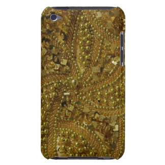 Gold bling glitter & pearls iPod Case-Mate cases