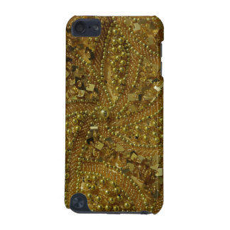 Gold bling glitter & pearls iPod touch 5G cover