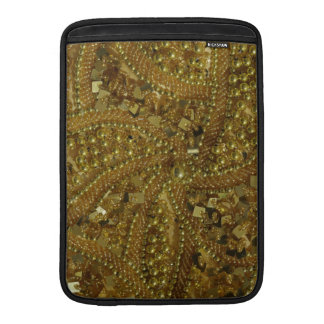 Gold bling glitter & pearls sleeve for MacBook air