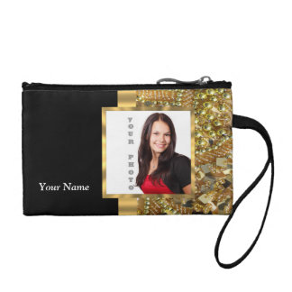 Gold bling instagram templates coin purse
