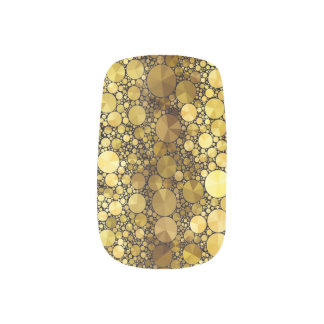 Gold Bling Pattern Minx Minx Nail Art
