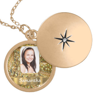 Gold bling photo background necklaces