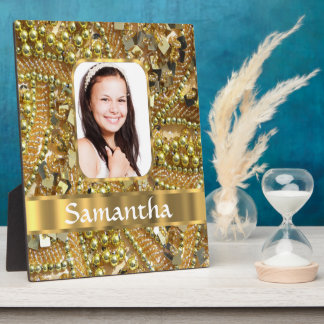 Gold bling photo background plaque