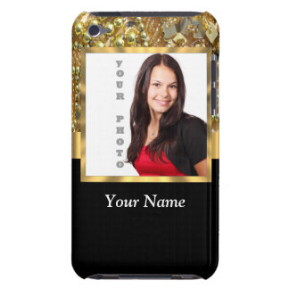 gold bling photo template barely there iPod cover