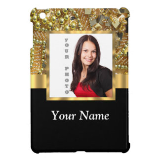 gold bling photo template iPad mini covers