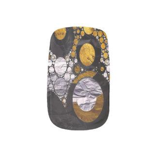 Gold/BLK Abstract Metal Texture Minx Nail Art