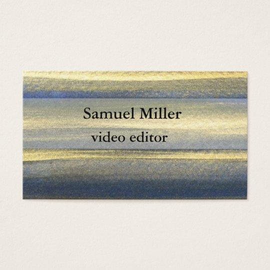 Gold Blue Artistic Original Editor Business Card