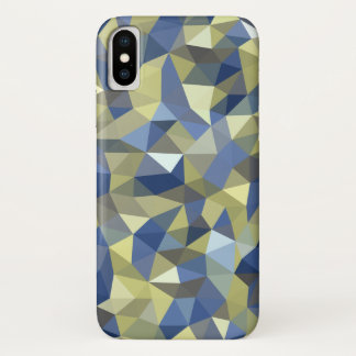 Gold Blue Crystal iPhone X Case