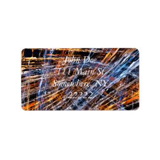 Gold & Blue Disruption Address Label