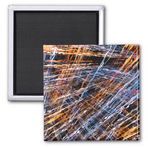 Gold & Blue Disruption Fridge Magnet