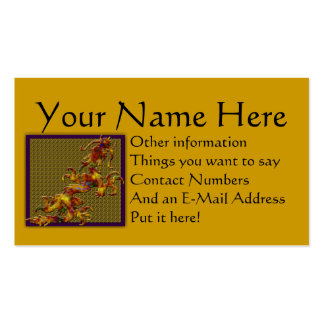 Gold/Blue Dragon Pack Of Standard Business Cards