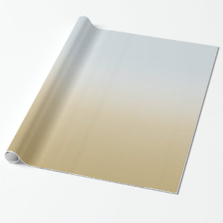 Gold Blue Ombre Wrapping Paper