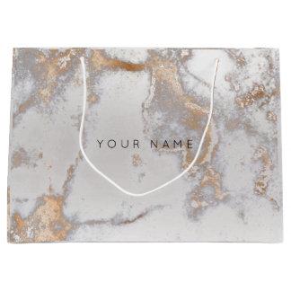 Gold Blush Marble Metallic Gift Gray Silver Rose Large Gift Bag