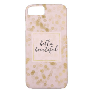 Gold Blush Pink Confetti iPhone 8/7 Case