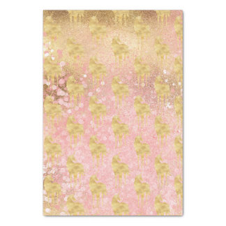 Gold Blush Pink Magical Unicorn Tissue Paper