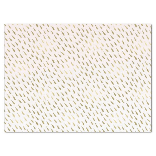 Gold Blush Pink White Ombre Abstract Tissue Paper