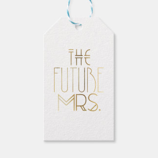 Gold Bohemian Bride | The Future Mrs. Gift Tag