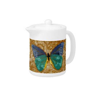Gold Boho Butterfly  Teapot