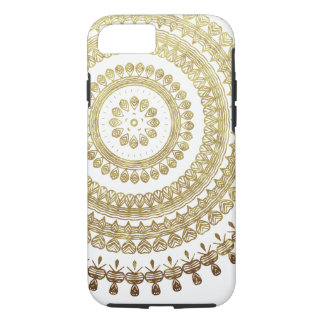 Gold Boho Tribal Circle Mandala Metallic Effect iPhone 8/7 Case