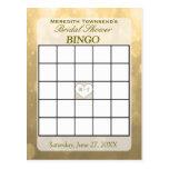 Gold Bokeh   Bingo Card Postcard