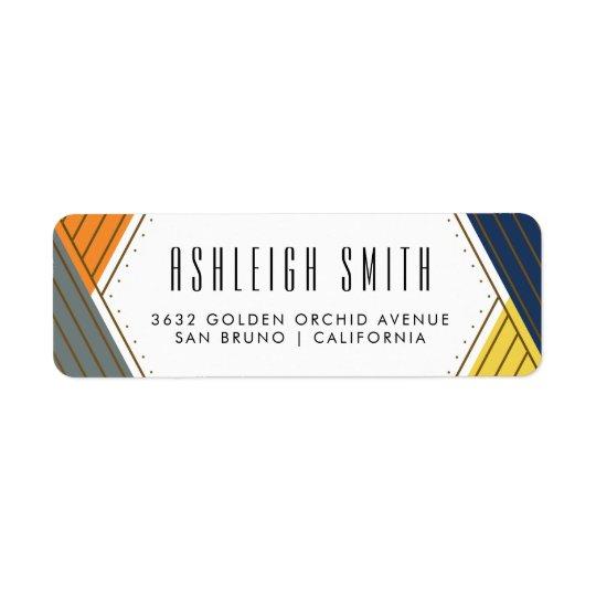 Gold & Bold Colours | Geometric Return Address Label
