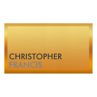 Gold border business card for professionals