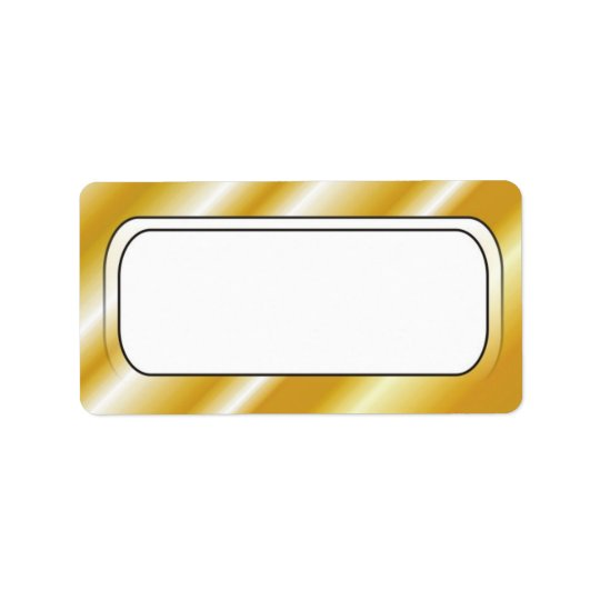 Gold Border Frame Blank Address Labels