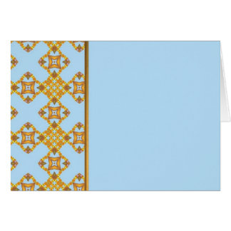 Gold Border on Blue Greeting Card