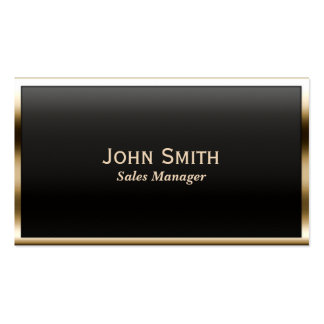 Gold Border Sales Manager Business Card