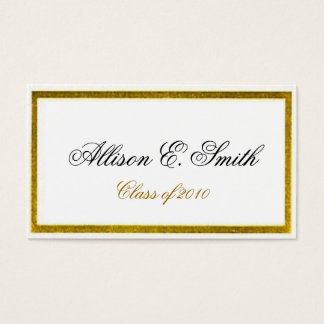 Gold Bordered Graduation Name Card